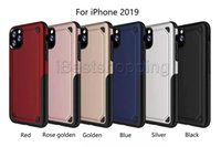 cas défenseur d'armure achat en gros de-2 en 1 Matte Shell givré hybride Armure Slim Case antichocs Defender cas couverture arrière pour iPhone 11 pro max XR XS MAX Samsung S10 9 8Plus
