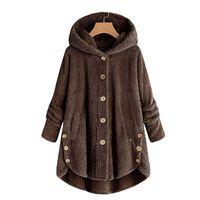 knopf unten hoodie frauen großhandel-Frauen-Kaschmir-Jacke, reine Farbe, gute Qualität, lose Spitze, doppelseitige Wolljacke, Button-down-Cardigan und warmer Hoodie