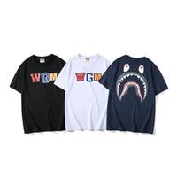 tissu de coton mince achat en gros de-T-shirt à manches courtes pour hommes - Nouveau col rond - T-shirt imprimé - Coton