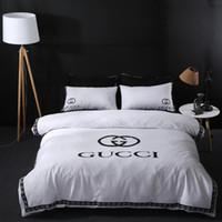 Wholesale coverlet bedding resale online - Brand Design DoublBedding Set Polyester Cotton Soft Bed Linen Duvet Cover Pillowcases Bed Sheet Sets Home Textile Coverlets PC