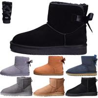 pamuk yarasa toptan satış-UGG Ücretsiz kargo kış Yeni tasarımcı Klasik kar Botları Ucuz bayan kışlık botlar moda indirim Ayak Bileği Artı pamuk Çizmeler ayakkabı boyutu 5-10