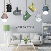ingrosso lampada a sospensione regolabile-Lampade a sospensione orientabili E27 regolabili con inclinazione minimalista del minimalismo nordico, lampada di illuminazione per decorazioni per la casa e faretto Bar Showcase