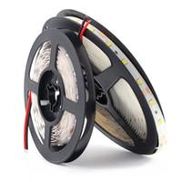 tv luz azul al por mayor-12 V Volt Strip PC Led Light Tape 2835 RGB impermeable 5 M 12V DC 60LED / M RGB Led tira de cinta de la lámpara de diodos Flexible TV Backlight
