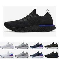 ingrosso scarpe da corsa donna blu-Scarpe da corsa da donna New Epic React da uomo Scarpe da ginnastica sportive traspiranti di design per uomo, bianche, nere, blu, istantaneo, taglia 36-45 euro