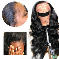Wholesale invisible brazilian human hair resale online - HD Transparent Invisible Lace Front Wig Loose Deep Wave Brazilian Natural Human Hair Remy Wig Preplucked Blached Knots Baby Hair