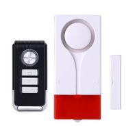 alarma sirena puerta sensor al por mayor-Alarma remota de puerta Sirena anti sonido de seguridad con luz estroboscópica Inicio Instalación fácil Sensores inalámbricos Proteger