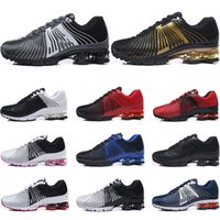 Wholesale famous sneakers men for sale - Group buy 2019 mens shoes shox NZ bule red white black grap Famous deliver OZ Athletic Sneakers mens women Sports Running Shoes US
