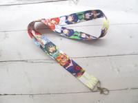 Wholesale camera lanyards neck resale online - Anime My Hero Academia Boku no Hero Academia Key Chains Neck Strap Keys Camera ID Card Lanyard N