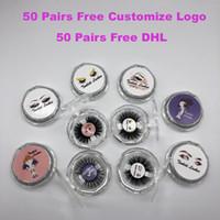 рукодельные кресты оптовых-1 пара / серия 21 стиль 3D ресницы норки Private Label 100% натуральный мех норки