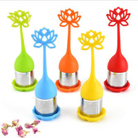 Wholesale korean cute kitchen for sale - Group buy Tea Infuser Stainless Steel Cute Tea Ball Sweet Leaf Tea Strainer for Brewing Device Herbal Spice Filter Kitchen Tools Designs Gifts