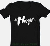 peliculas de vampiros al por mayor-Camiseta para hombre Precio más bajo 100% algodón Camiseta The Hunger Movie Camiseta gótica con gráfico de algodón negro Vampire Bowie 1980s