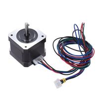 3d schritte großhandel-Nema 17 Schrittmotor-Antriebssteuerung 2 Phase 1,8 Grad 0,9 A mit Anschlusskabel für 3D-Drucker CNC-Motor-Ersatz