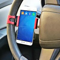 Wholesale steering phone holder resale online - Daefar Car Holder Mini Air Vent Steering Wheel Clip Mount Cell Phone Mobile Holder Universal For iPhone Support Bracket Stand
