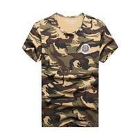 свободная камуфляжная одежда оптовых-Женские дизайнерские футболки, роскошные дизайнерские мужские дизайнерские футболки, мужские дышащие анти-термоусадочные одежды, камуфляж бесплатная доставка, сделанные QCC-B426