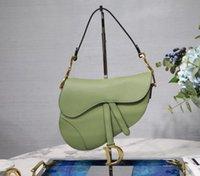damen klassischen kurzen großhandel-Luxus klassische Designer-Handtasche D Satteltasche aus hochwertigem Leder Damen Umhängetasche 2019 neue Metall Brief Handtasche