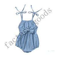 Wholesale comfortable baby girl clothes for sale - Group buy Infant Cotton Jumpsuit Suspenders Romper Baby Summer Jumpsuits Boys Girls Rompers Solid Clothes Soft and comfortable Soft CZ402