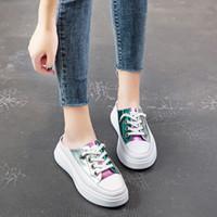 ingrosso scarpe spesso in gomma sollevata per le donne-2019 New Fashion Women Silppers Sandali da donna Slip On Peep Toe Scarpe casual Scarpe femminili Fondo spesso Suola in gomma antiscivolo