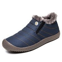 Wholesale man snow boots big size resale online - Hot Big Size Fashion Men Winter Snow Boots Keep Warm Boots Plush Unisex High And Low Ankle Boot Snow Work Shoes Size
