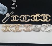 broşlar toptan satış-Klasik Stil Lady Altın Şerit Broş Moda Pin Parti için Moda Yaka Pin Erkekler Takı Moda Erkekler Zihinsel Pin Broş