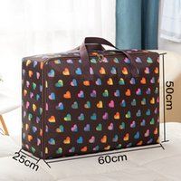 Wholesale Travel cm Folding Clothes Luggage Bags Waterproof Oxford Large Capacity Quilt Storage Bag Double Zipper Quilt Bags DH1040 T03
