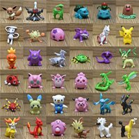 ingrosso decorazioni del modello di navi-Cartoon Action Figures Multicolor su 6CM / 2inch mini bambini giocattoli fai da te Pikachu Model Decoration Spedizione DHL