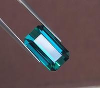 mavi kolye doğal taş toptan satış-Mavi Yeşil Turmalin Doğal 12.92ct Mavi Yeşil turmalin Gevşek Taşlar Gevşek Taşlar Kolye Yapımı İçin Takı Yapımı İçin Yapma