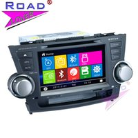 Wholesale multimedia player toyota resale online - TOPNAVI Wince Double Din quot Car Multimedia DVD Player Auto Video For Toyota Highlander Stereo GPS Navigation HD Scree