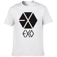 ingrosso camicia eso kpop-2017 Estate moda coreana EXO KPOP manica corta stampa cool t shirt uomo T-shirt di marca EXO Tees # 209