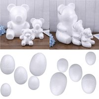 Wholesale egg crafts for sale - Group buy Modelling Polystyrene Styrofoam Foam Bear Egg White Craft Balls For DIY Christmas Party Decoration Supplies Gifts
