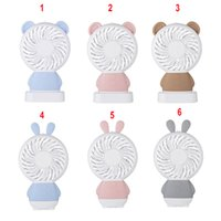 Wholesale hand fan electric resale online - Mini USB Fan LED light Battery Operated USB Power Portable Hand Handheld Pocket Fan Air Cooler Electric Laptop home Office