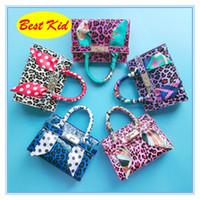 azul marinho bolsa para compras venda por atacado-BestKid DHL Frete Grátis! Crianças leopardo impressão sacos de ombro para crianças crianças pequenas bolsas do bebê meninas mini bolsas toddlers sacos bk081