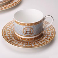 Wholesale ceramic housings resale online - Ceramic Western Dish Plate Coffee Cup Pastry Dish Restaurant Bone China Steak Plate Model House Decoration