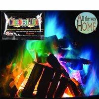 flammende spielzeug großhandel-Mystical Fire Zaubertricks 10/15/25 / 30g Farbige Magic Flames Bonfire Sachets Kamin Pit Patio Farbe Toy Magicians Pyrotechnik