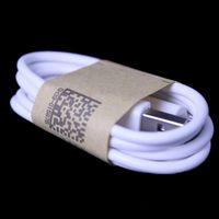 5pin kablosu toptan satış-Beyaz siyah 1 m 3FT OD 3.4 Mikro V8 5pin usb data sync şarj kablosu Samsung s3 s4 s6 blackberry htc lg