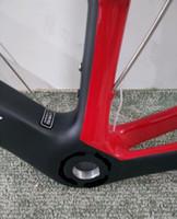 carbono prata mate venda por atacado-Oem logotipo e cor quadro de bicicleta de carbono preto brilhante acabado prata bicicleta de estrada + frok + fone de ouvido + guiador frete grátis