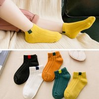 Wholesale kids winter sport wear for sale - Group buy 5 Pairs Cotton Children Kids Socks for Girls Boys Winter Fall Spring Wear Solid Color Fashion Sports Casual Socks Baby Kids
