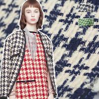 vestido de poliéster viscosa al por mayor-145 cm de ancho 420 g / m de peso de punto de algodón verde azul poliéster tejido de viscosa para otoño invierno vestido chaqueta abrigo E1070