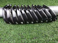 11 golfe venda por atacado-2019 Novo Clube de Golfe 0311XF GEN 2 Ferro Preto 11 picec Suits Pintura Branca Com Tampa Da Cabeça Entrega Gratuita