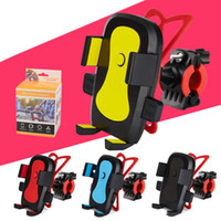 Wholesale phone holder motorcycle iphone for sale – best 360 Rotation Bike Bicycle Motorcycle Handlebar Mount Holder Universal Phone Holder With Silicone Support Band For Iphone Samsung GPS