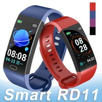 Wholesale RD11 Smart Bracelet Blood Pressure Heart Rate Monitor Bracelet Wristband IP67 Waterproof Fitness Tracker for iOS Android with Package