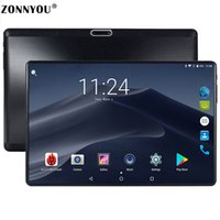 pazar telefonları toptan satış-Yeni Orjinal 10 inç Tablet Pc Octa Çekirdek 3G Telefon Görüşmesi 10.1 Tabletler 4G + 64G Android 7.0 sekmesi Google Pazar GPS WiFi FM Bluetooth
