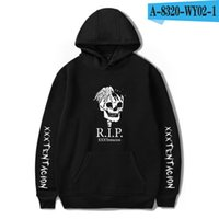 Wholesale pink hoodies for men online – oversize Men Cool Hip Hop Hoodies Sweatshirts Raper XXXTentacion Harajuku Men Cool Casual Print Autumn Plus Size for Men Hot Sale