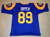 ingrosso mitchell ness-Cheap Retro personalizzato cucito Stitched # 89 Fred Dryer Blu MITCHELL NESS Jersey High-end da calcio maschile maglie College NCAA