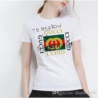 ingrosso camicie espresse casual-2019 estate nuova maglietta all'ingrosso casual t-shirt da donna di marca, maglietta stampata con lettera espressa, maglietta carina in cotone