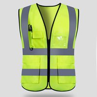 Wholesale safety reflective vest for running for sale - Group buy Reflective Safety Vests For Night Work Clothes High Visibility Workwear Man Women Outdoor Running Cycling Sports Security Guard T190622