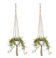 Plant Hanger Jute Rope Flower Pot Handmade Knitting Plant Holder Hanging Basket with Hook novelty Indoor Outdoor Home Garden Balcony Decor
