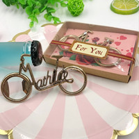 Wholesale wedding reception gifts resale online - DHL Bicycle Bottle Opener Wedding Reception Bike Beer Cap Opener Party Favors Kitchen Tools Accessories Birdal Shower Gifts