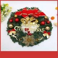 Wholesale diy shop decor resale online - Christmas Party Decoration Supplies Wreaths Door Hanging Rattan Ring for Shopping hotel supermarket Christmas Diy Decor Garland