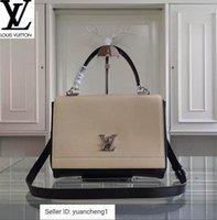 palladium kreuz groihandel-Libobo8 550.250 Schwarz Weiß Palladium Kupfer Twist Lock Seal Handtaschen Top Griffe Schultertaschen Totes Abend Umhängetasche 99