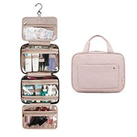 Wholesale pink hanging travel toiletry organizer for sale - Group buy Travel Toiletry Bag with Hanging Hook Makeup Cosmetic Bag Travel Organizer Portable Bathroom Storage Cosmetic